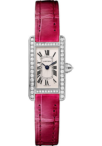 Cartier Watches - Tank Americaine Mini - White Gold - Style No: WB710015