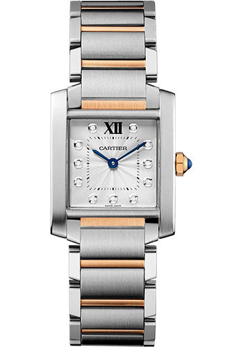 Cartier Watches - Tank Francaise Medium - Steel and Pink Gold - Style No: WE110005