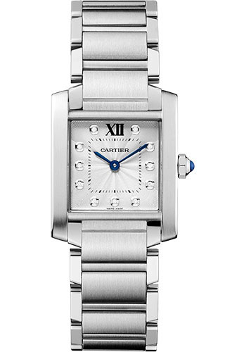 Cartier Watches - Tank Francaise Medium - Stainless Steel - Style No: WE110007