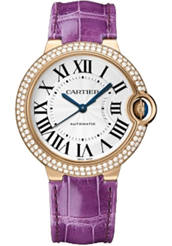 Cartier Watches - Ballon Bleu Pink Gold With Diamonds - Style No: WE900551