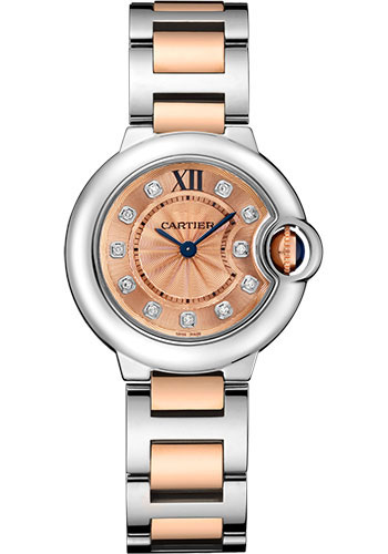 Cartier Watches - Ballon Bleu 28mm - Steel and Pink Gold - Style No: WE902052