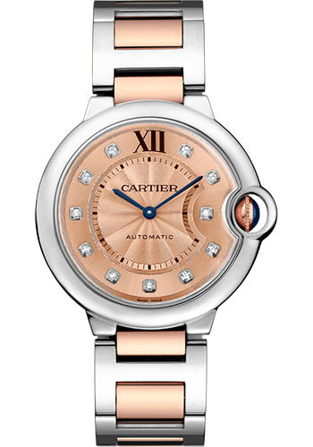 Cartier Watches - Ballon Bleu 36mm - Steel and Pink Gold - Style No: WE902054