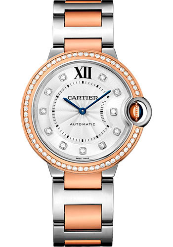 Cartier Watches - Ballon Bleu 36mm - Steel and Pink Gold - Style No: WE902078