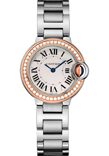 Cartier Watches - Ballon Bleu 28mm - Steel and Pink Gold - Style No: WE902079