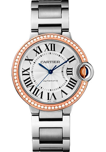 Cartier Watches - Ballon Bleu 36mm - Steel and Pink Gold - Style No: WE902081