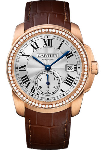 Cartier Watches - Calibre de Cartier 38mm - Automatic - Gold - Style No: WF100013