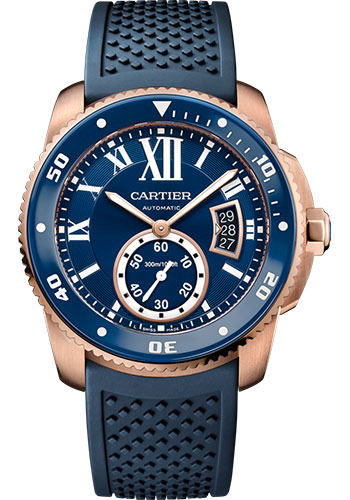 Cartier Watches - Calibre de Cartier Diver - Pink Gold - Style No: WGCA0010
