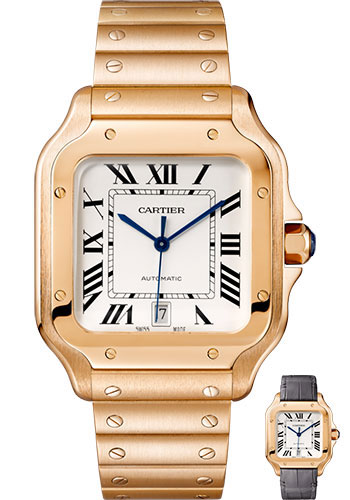 Cartier Watches - Santos de Cartier Large - Pink Gold - Style No: WGSA0007
