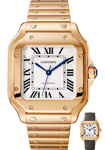 Cartier Watches - Santos de Cartier Medium - Pink Gold - Style No: WGSA0008
