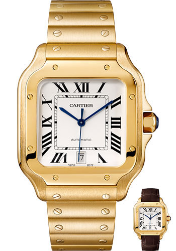 Cartier Watches - Santos de Cartier Large - Yellow Gold - Style No: WGSA0009