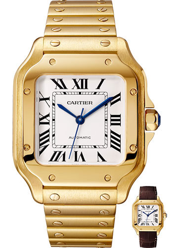 Cartier Watches - Santos de Cartier Medium - Yellow Gold - Style No: WGSA0010