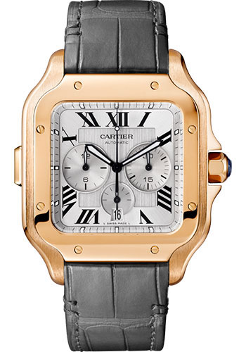 Cartier Watches - Santos de Cartier Chronograph - Pink Gold - Style No: WGSA0017