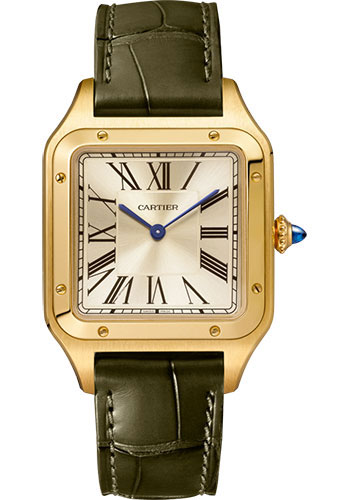 Cartier Watches - Santos Dumont Large - Yellow Gold - Style No: WGSA0027