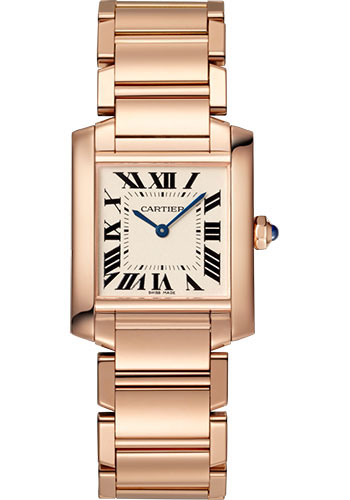 Cartier Watches - Tank Francaise Medium - Pink Gold - Style No: WGTA0030