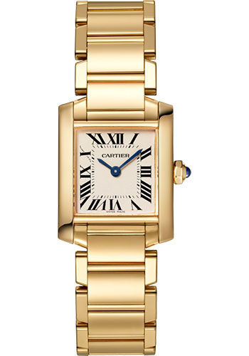 Cartier Watches - Tank Francaise Small - Yellow Gold - Style No: WGTA0031