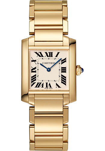 Cartier Watches - Tank Francaise Medium - Yellow Gold - Style No: WGTA0032