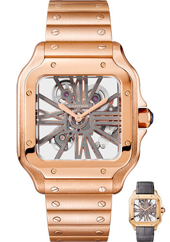 Cartier Watches - Santos de Cartier Large - Pink Gold - Style No: WHSA0008
