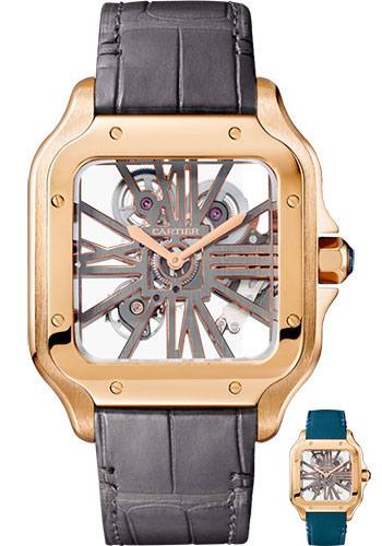 Cartier Watches - Santos de Cartier Large - Pink Gold - Style No: WHSA0010