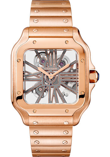 Cartier Watches - Santos de Cartier Large - Pink Gold - Style No: WHSA0016