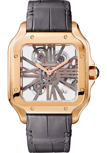 Cartier Watches - Santos de Cartier Large - Pink Gold - Style No: WHSA0018