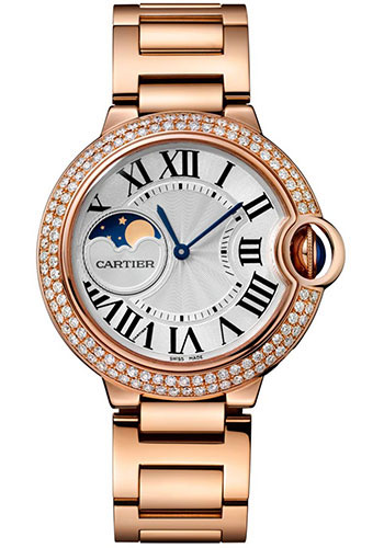 Cartier Watches - Ballon Bleu Moonphase - 37mm - Pink Gold - Style No: WJBB0025
