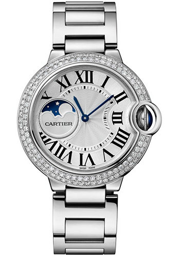 Cartier Watches - Ballon Bleu Moonphase - 37mm - White Gold - Style No: WJBB0026