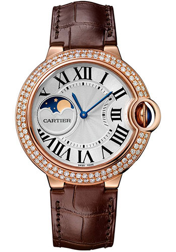 Cartier Watches - Ballon Bleu Moonphase - 37mm - Pink Gold - Style No: WJBB0027