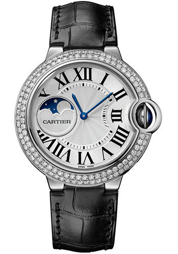 Cartier Watches - Ballon Bleu Moonphase - 37mm - White Gold - Style No: WJBB0028