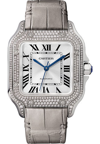 Cartier Watches - Santos de Cartier Medium - White Gold - Style No: WJSA0006