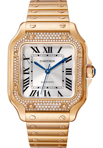 Cartier Watches - Santos de Cartier Medium - Pink Gold - Style No: WJSA0009