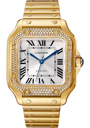 Cartier Watches - Santos de Cartier Medium - Yellow Gold - Style No: WJSA0010