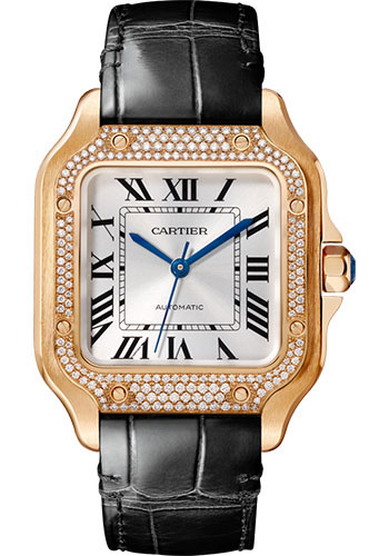 Cartier Watches - Santos de Cartier Medium - Pink Gold - Style No: WJSA0012
