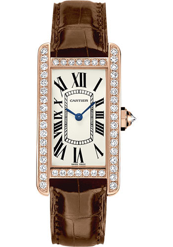 Cartier Watches - Tank Americaine Small - Pink Gold - Style No: WJTA0002