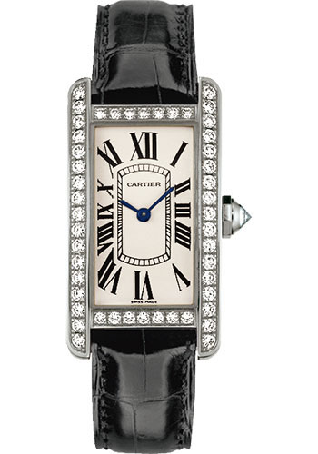 Cartier Watches - Tank Americaine Small - White Gold - Style No: WJTA0003