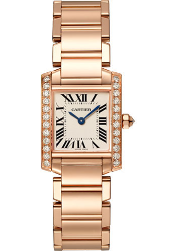 Cartier Watches - Tank Francaise Small - Pink Gold - Style No: WJTA0022