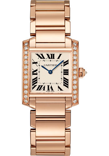 Cartier Watches - Tank Francaise Medium - Pink Gold - Style No: WJTA0023