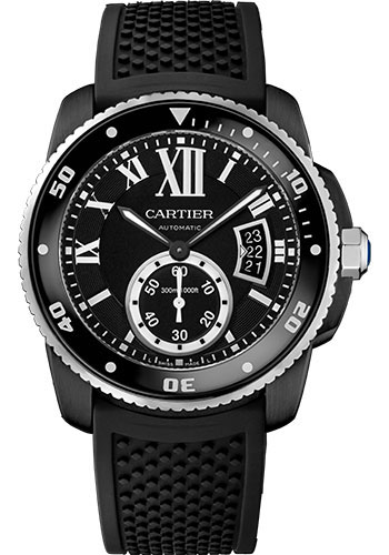 Cartier Watches - Calibre de Cartier Diver - Carbon - Style No: WSCA0006