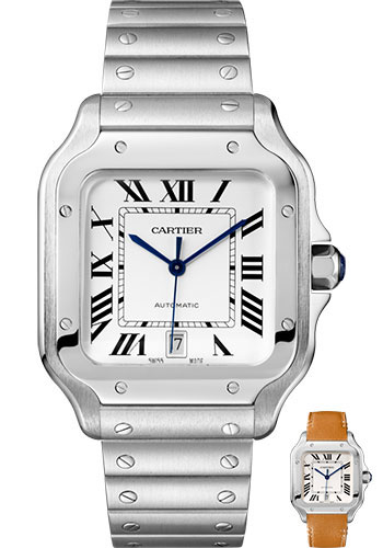 Cartier Watches - Santos de Cartier Large - Stainless Steel - Style No: WSSA0009