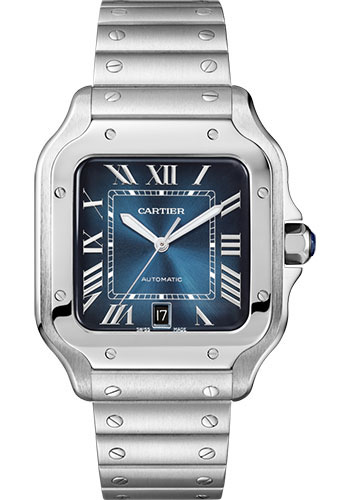 Cartier Watches - Santos de Cartier Large - Stainless Steel - Style No: WSSA0013