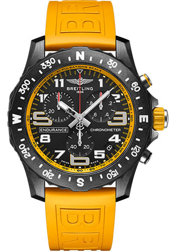 Breitling Watches - Endurance Pro Breitlight - Rubber Strap - Tang Buckle - Style No: X82310A41B1S1