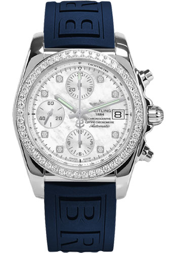 Breitling Watches - Chronomat 38 Diamond Bezel - Diver Pro III - Tang - Style No: A1331053/A776-diver-pro-iii-blue-tang