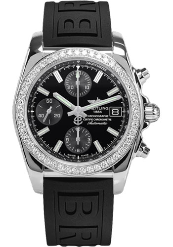 Breitling Watches - Chronomat 38 Diamond Bezel - Diver Pro III - Deployant - Style No: A1331053/BD92-diver-pro-iii-black-pushbutton-folding