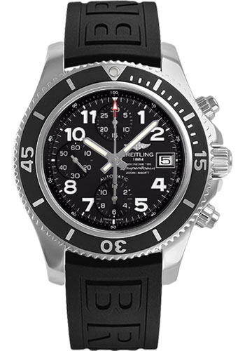 Breitling Watches - Superocean Chronograph 42 Diver Pro III Strap - Deployant - Style No: A13311C9/BE93-diver-pro-iii-black-deployant