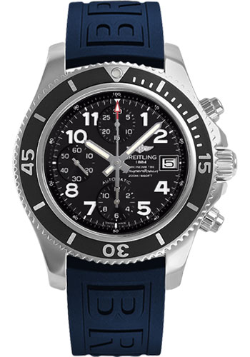 Breitling Watches - Superocean Chronograph 42 Diver Pro III Strap - Deployant - Style No: A13311C9/BE93-diver-pro-iii-blue-deployant