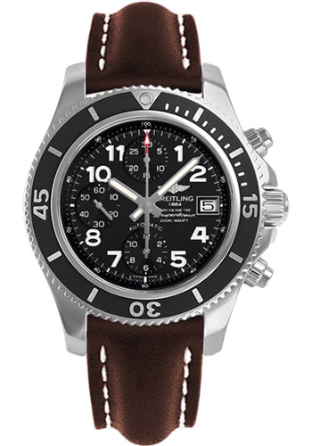 Breitling Watches - Superocean Chronograph 42 Leather Strap - Deployant - Style No: A13311C9/BE93-leather-brown-deployant