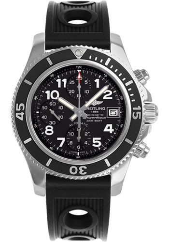 Breitling Watches - Superocean Chronograph 42 Ocean Racer Strap - Deployant - Style No: A13311C9/BE93-ocean-racer-black-deployant