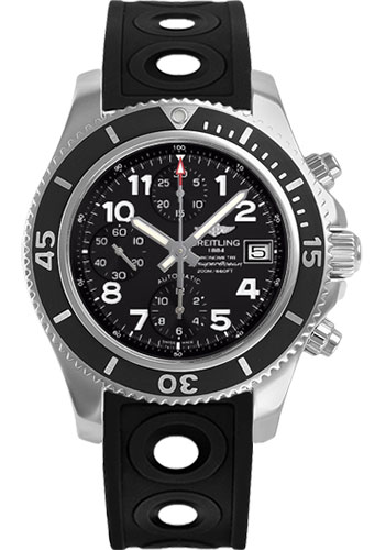 Breitling Watches - Superocean Chronograph 42 Ocean Racer II Strap - Tang - Style No: A13311C9/BE93-ocean-racer-ii-black-tang