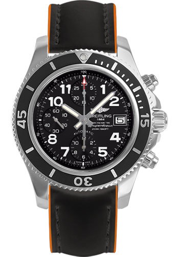 Breitling Watches - Superocean Chronograph 42 Superocean Strap - Tang - Style No: A13311C9/BE93-superocean-black-orange-tang