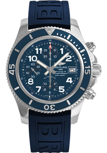Breitling Watches - Superocean Chronograph 42 Diver Pro III Strap - Deployant - Style No: A13311D1/C936-diver-pro-iii-blue-deployant