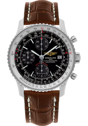 Breitling Watches - Navitimer Heritage Croco Strap - Tang - Style No: A1332412/BF27-croco-gold-tang
